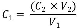 C1V1=C2V2 rearrange version 2