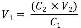 C1V1=C2V2 rearrange version 3