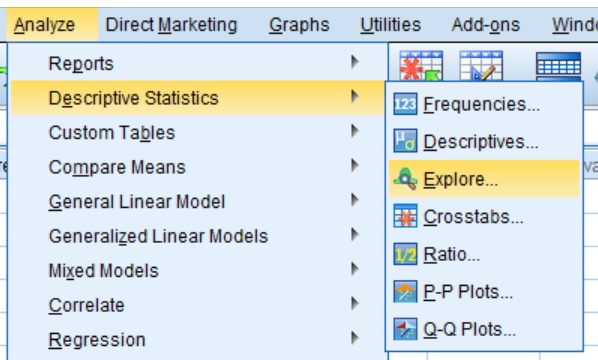 Exploring data in SPSS