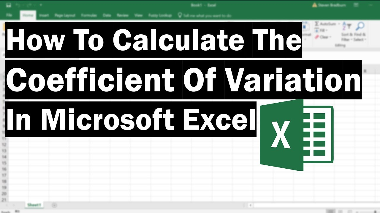 how to calculate the coefficient of variation  cv