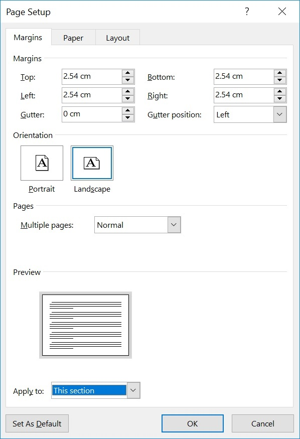 how to change a pdf from portrait to landscape