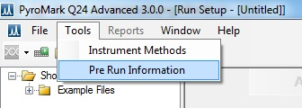 PyroMark Q24 Sequencing Pre Run Information