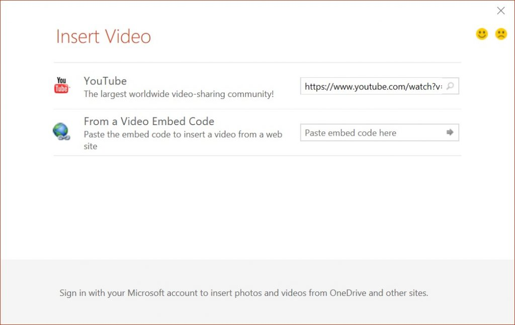 PowerPoint insert Online Video YouTube