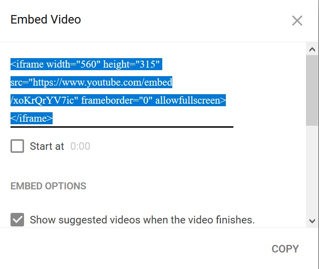 how to download video by embed code
