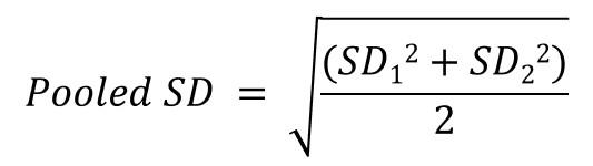 Pooled standard deviation formula