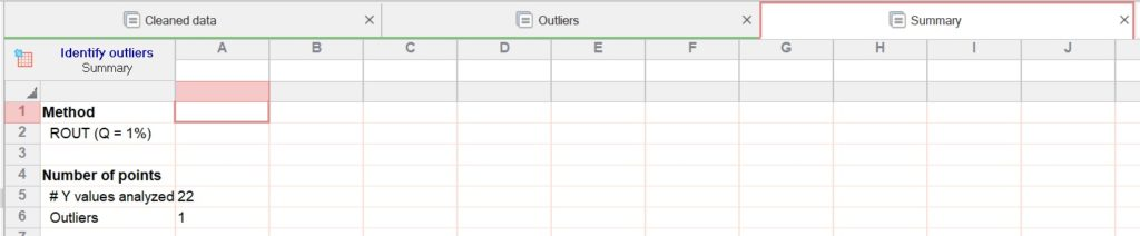 How to remove outliers in GraphPad results