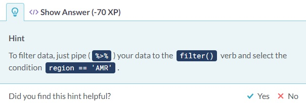 DataCamp Take a Hint