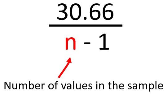 Divide by n-1