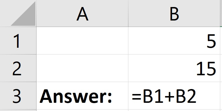 How to add cells in Excel