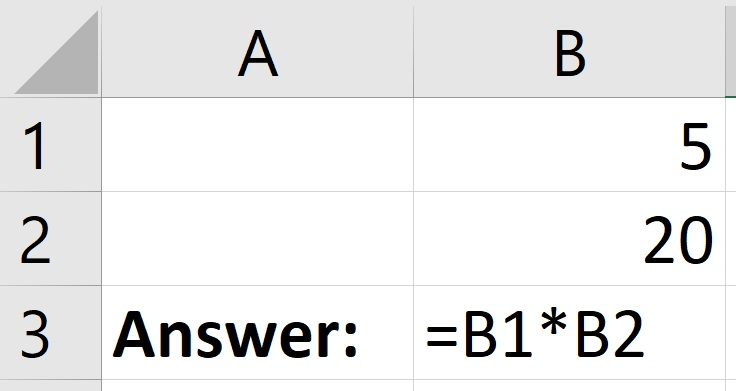 How to multiply cells in Excel