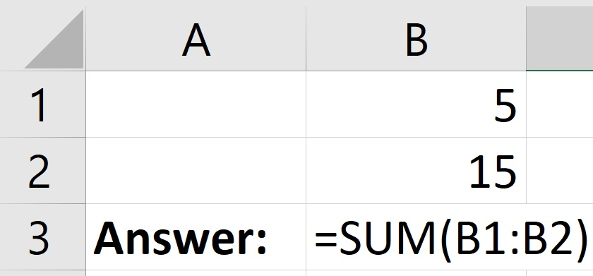 How to use the SUM function in Excel